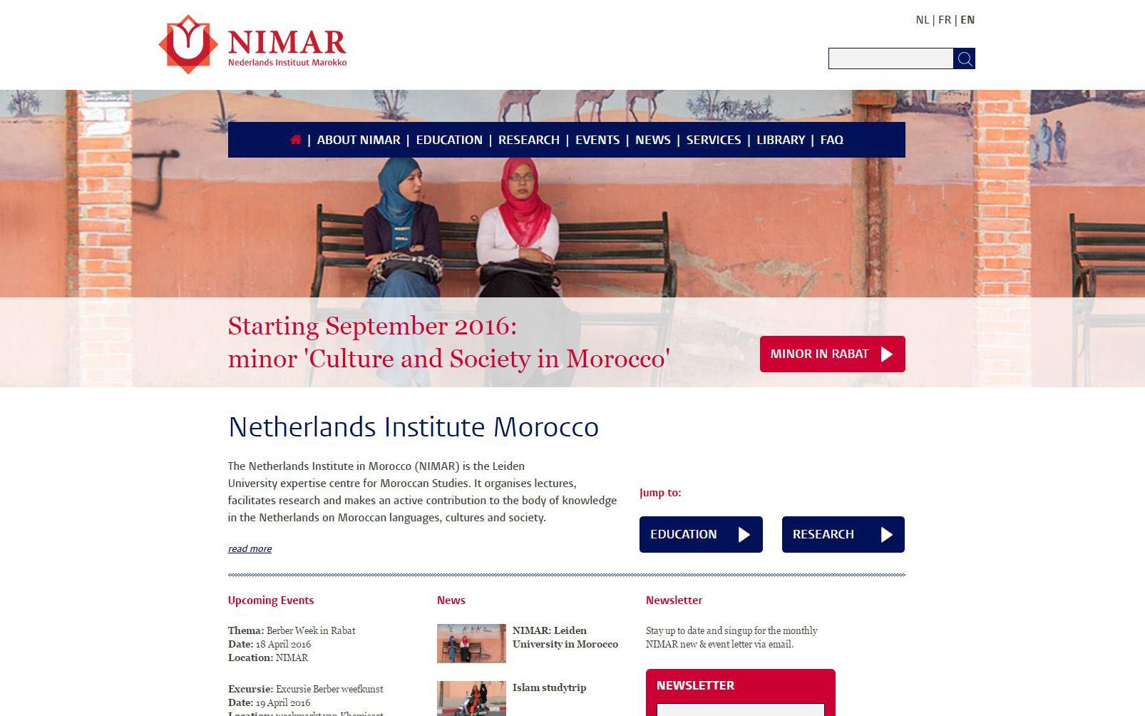netherlands institute morocco (nimar) - leiden university