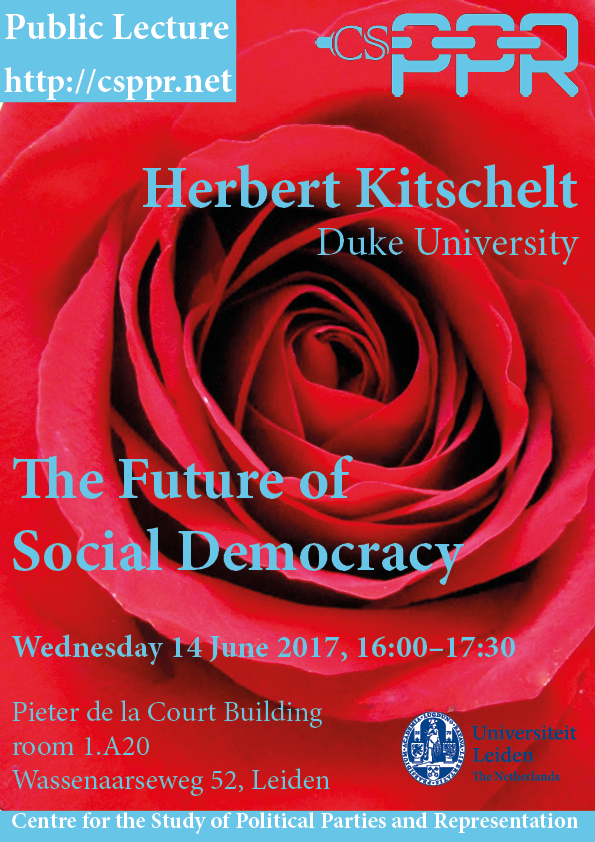 CSPPR lecture Herbert Kitschelt 'The Future of Social Democracy'