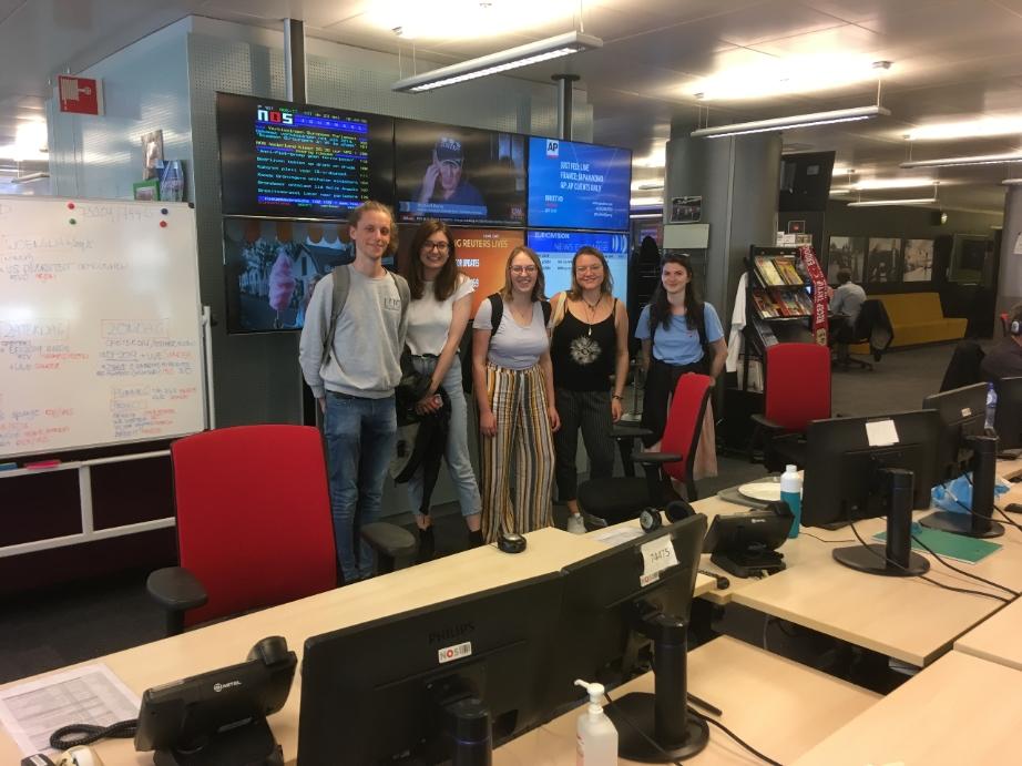 Luc Studenten Bezoeken Nos Redactie In Hilversum Universiteit Leiden
