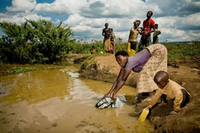 Drought and water scarcity in Angola, impacting livelihoods and natural ecosystems.