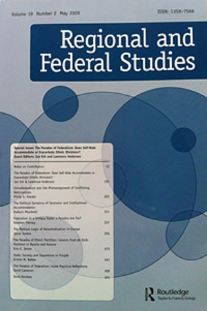 Tijdschrift Regional and Federal Studies