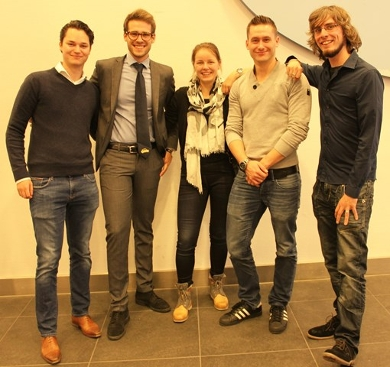 students Leiden University master CSM winning group 2016